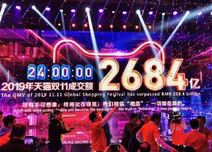 2019年天猫双十一落下帷幕,淘宝天猫总成交额为2684亿