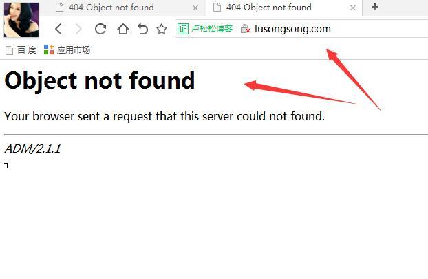 卢松松官网主域名没有设置跳转https