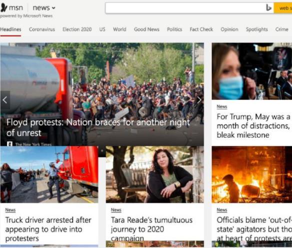 微软拟用AI取代新闻编辑MSN的资讯编辑便下了岗